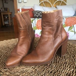 Brown Leather Fall Boots
